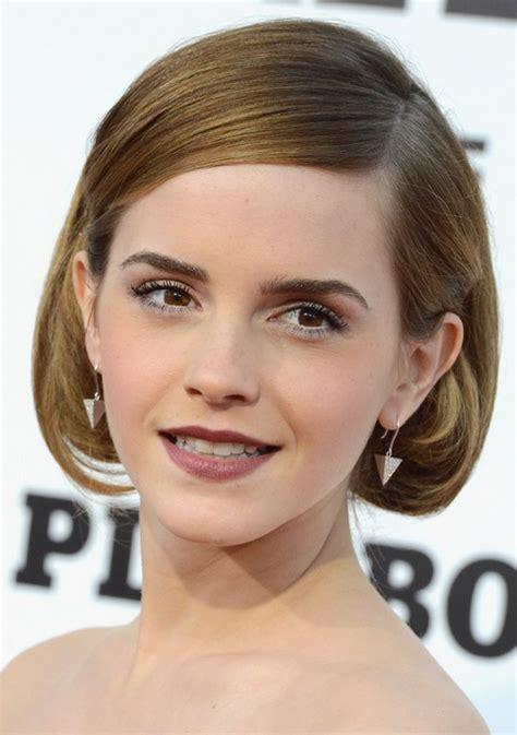 Emma Watson Short Hairstyle: Retro Bob   Pretty Designs