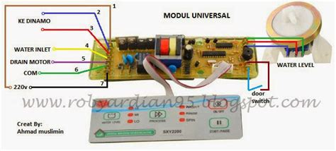 Modul Universal Mesin Cuci Front Loading bintang service modul universal mesin cuci top loading