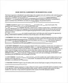 Apartment Rental Agreement Sle Apartment Lease Agreement 7 Documents In Pdf Word