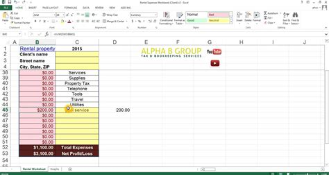 Accounting For Rental Property Spreadsheet by Landlord Accounting Spreadsheet Laobingkaisuo