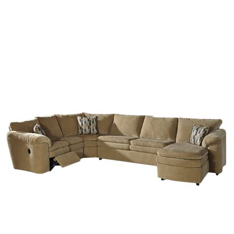 ashley dune sectional ashley coats 4 piece reclining sleeper sectional in dune