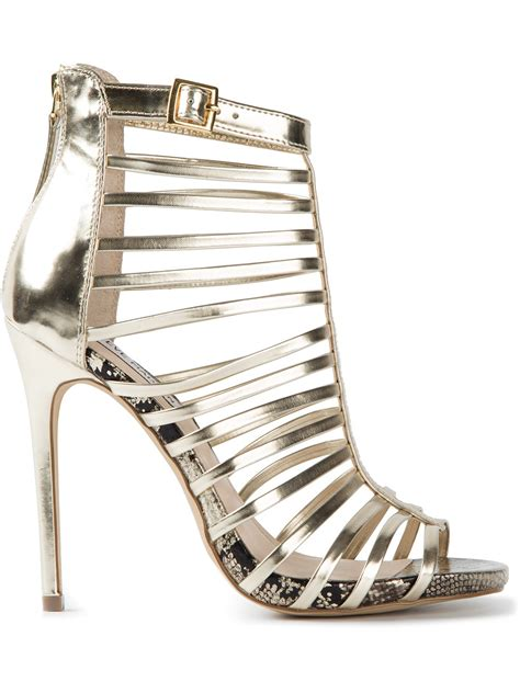 gold sandals steve madden steve madden marnee sandals in gold metallic lyst