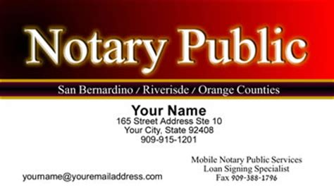 notary business cards templates get noticed with notary business cards