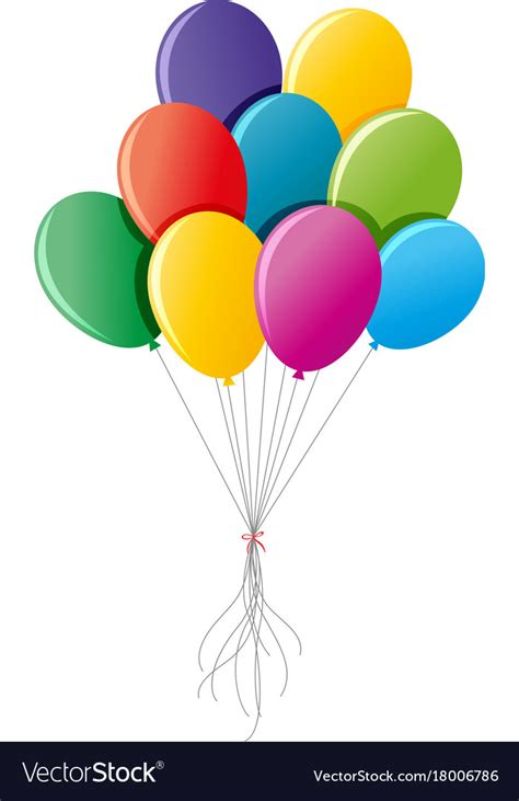 colorful balloons colorful balloons up together royalty free vector image
