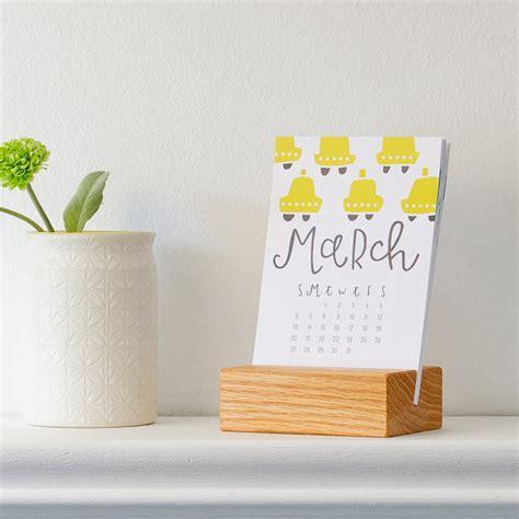 desk calendar with stand 2016 desk calendar with wood stand by pinwheelprintshop on