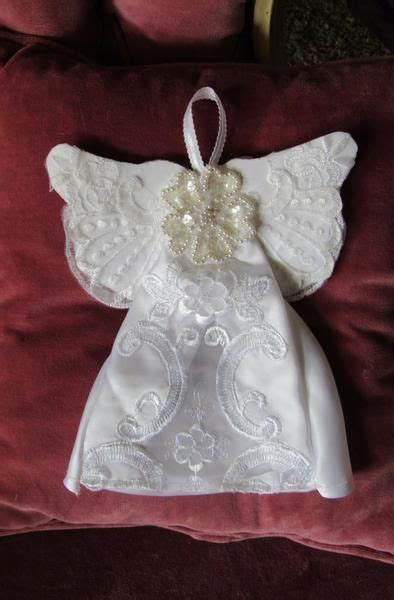 guardian angel ornaments wedding dress crafts recycled