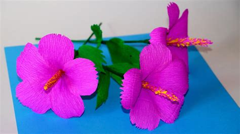 How To Make Hawaiian Flowers Out Of Paper - easy flowers ideas how to make hibiscus tissue