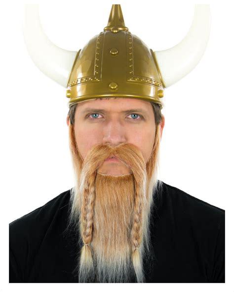 Viking Braided Sideburns   viking beard blond white heather false beard with braids
