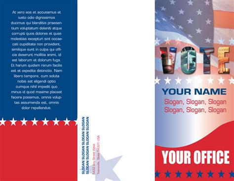 Election Brochure Template by 8 Best Images Of Political Caign Brochures Election