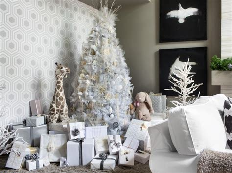 elagant christmas table tops in white theme white tree decorating ideas hgtv