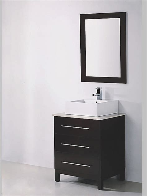 Bathroom Vanity Mirror Espresso 27 5 Inch Single Sink Espresso Bathroom Vanity With Mirror