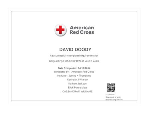 lifeguard certification card template cpr card template a but saving gift to give