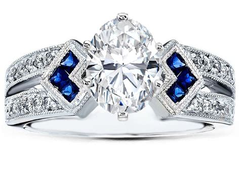 Wedding Rings With Sapphires And Diamonds by Blue Sapphire Engagement Rings From Mdc Diamonds Nyc