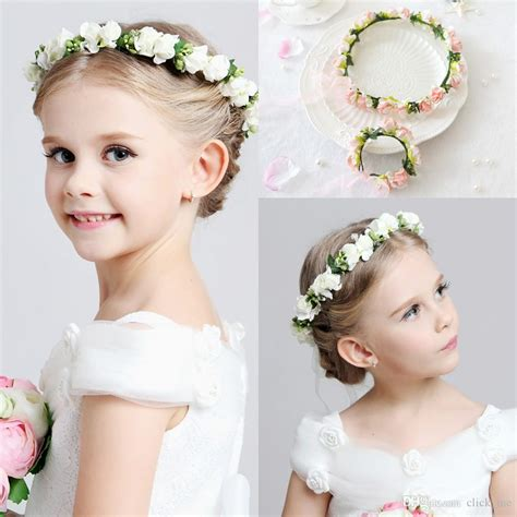 hair cut for ladies in garland 2016 hot wedding bridal girl head flower crown headband