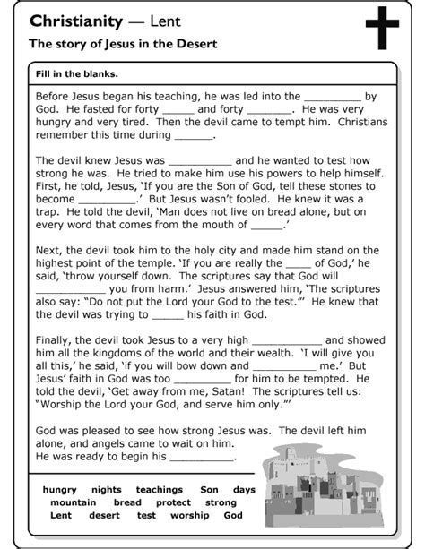 Lent Worksheets by Free Coloring Pages Of Lent Worksheet