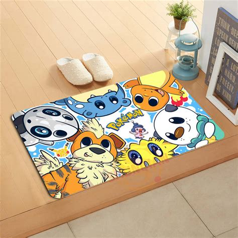 decorative floor mats home p 1031 wjy custom cartoon pikachu j doormat home decor
