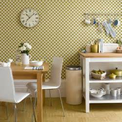 Wallpaper Designs For Kitchens Geometric Green Wallpaper Kitchen Wallpaper Ideas 10 Of The Best Housetohome Co Uk