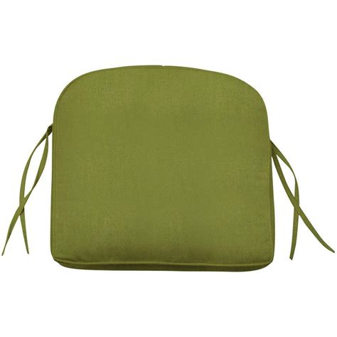 outdoor seat cushions home decorators collection sunbrella cilantro contoured