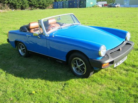 mg midget   pageant blue restored   engine sold car  classic