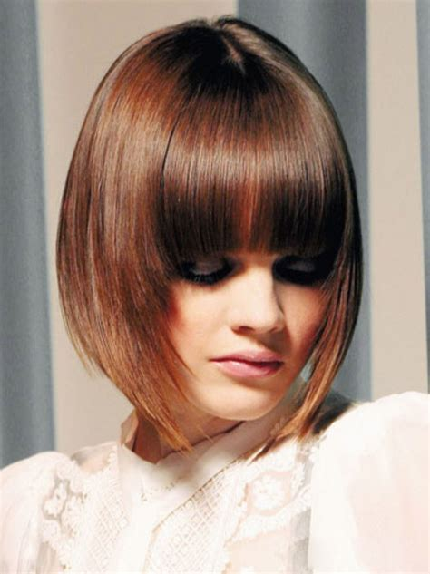 graduated bob with fringe hairstyles bob hairstyle with bangs hairstyles weekly hottest