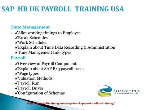 Sap Courses For Mba Hr by Sap Hr Uk Payroll In Australia