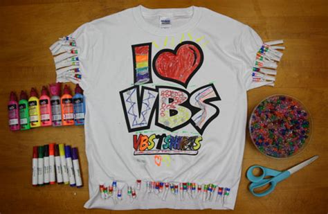 vbs craft ideas for how to turn a vbs t shirt into a work of vbs t shirts