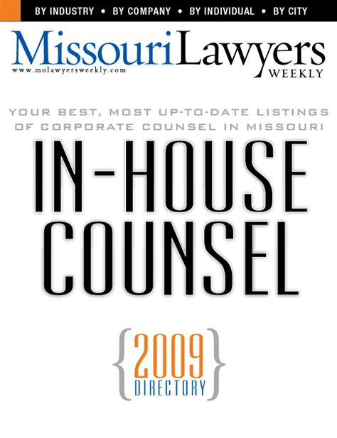 In House Counsel by Directory Of Missouri In House Counsel Missouri Lawyers Media