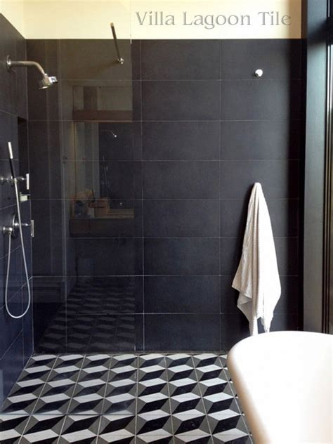 bathroom tiles brooklyn brooklyn townhome bath shower with our large cubes black white gray cement tile villa lagoon