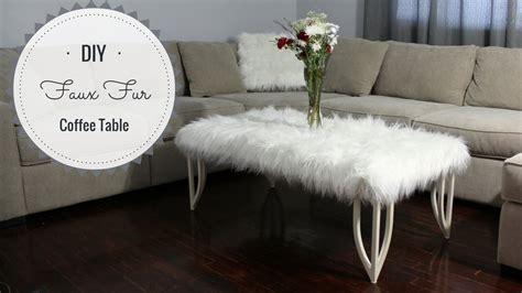 faux fur coffee table diy faux fur coffee table
