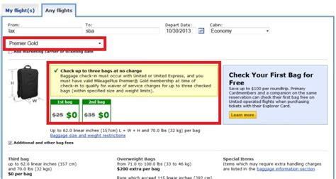 united bag charges united airlines carry on baggage allowance 2013