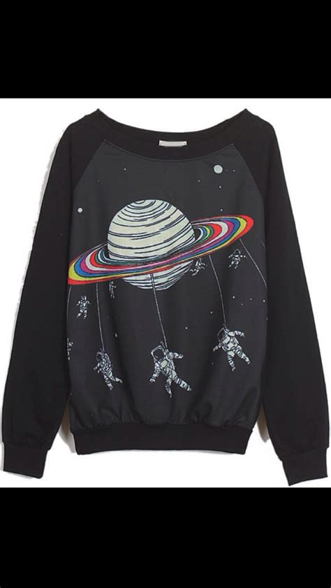 Jaket Sweater Hoodie Jumper Eat Sleep Futsal black sleeve saturn astronaut print sweatshirt