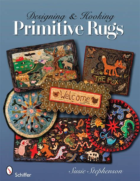 rug hooking books designing and hooking primitive rugs rug book halcyon yarn