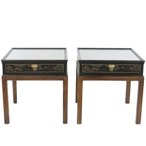 pair of drexel chinoiserie style end tables for sale at