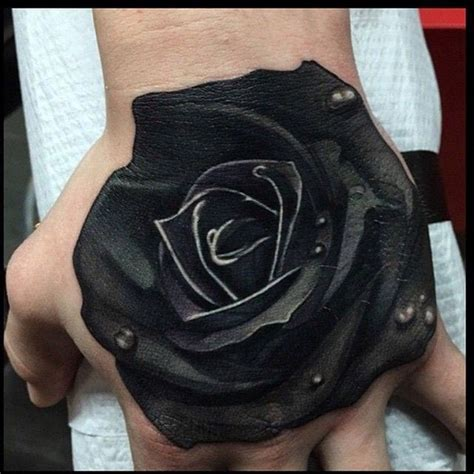 realistic black rose tattoo realistic black creativefan