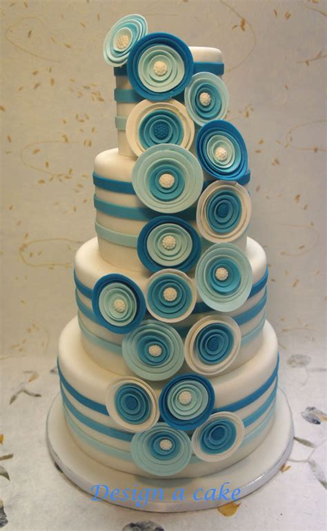 blue wedding cakes with flowers blue flowers wedding cake cakecentral