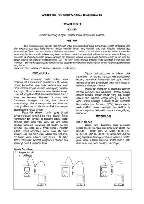Laporan Praktikum Membuat Larutan Dengan Konsentrasi Tertentu | laporan praktikum konsep analisis kuantitatif dan