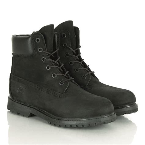 timberland s 6 inch premium waterproof black boot