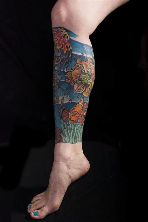 calf sleeve tattoo leg sleeve tattoos designs ideas and meaning tattoos