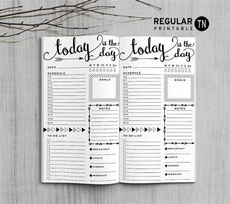 Daily Reguler printable traveler s notebook daily insert regular tn