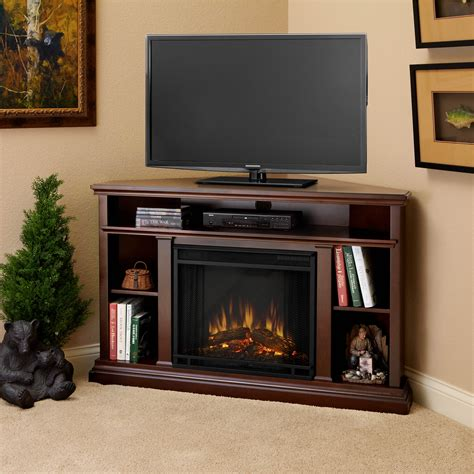 real churchill corner indoor electric fireplace