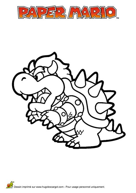 Coloriage Paper Mario Bowser Hugolescargot Com