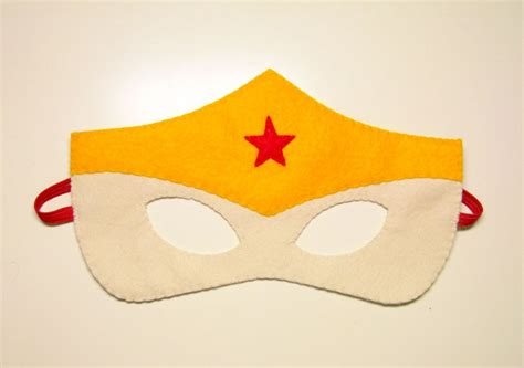 1 wonderwoman superhero felt mask red vanilla yellow
