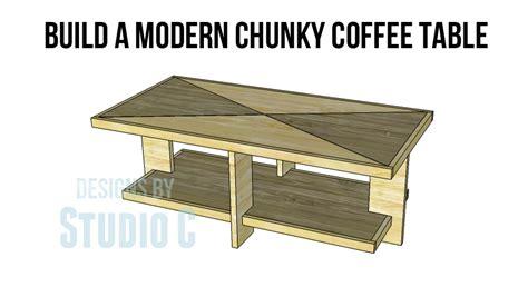 build modern coffee table build modern chunky coffee table