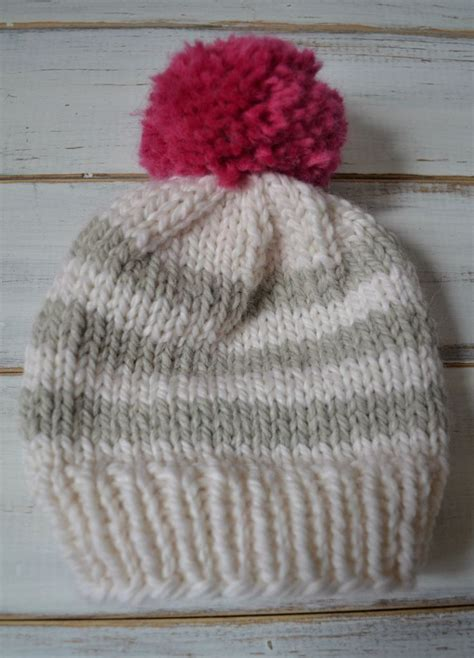 simple pattern for knitted beanie easy baby knitted beanie pattern knit pinterest