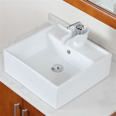unique sinks elite ceramic bathroom sink with unique square design 9978