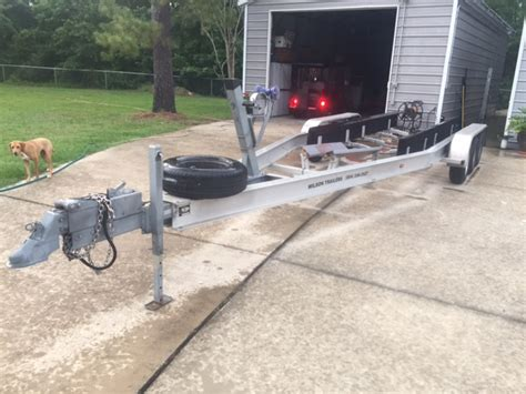 hi tech aluminum boat trailers hi tech triple torsion axle aluminum trailer sold the