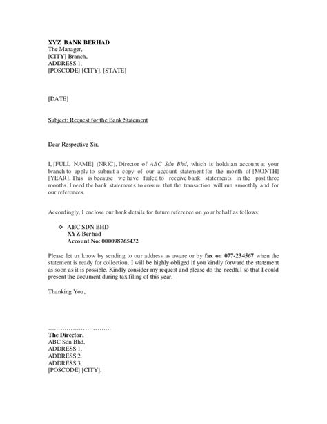 format of request letter to bank for bank guarantee sle bank letter