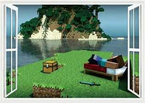 minecraft 3d wall stickers decor so sell it