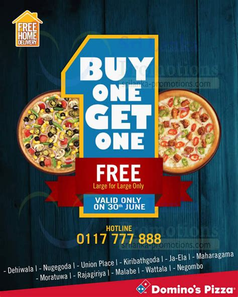 domino pizza buy one get one domino s pizza buy 1 get 1 free one day promo 30 jun 2014