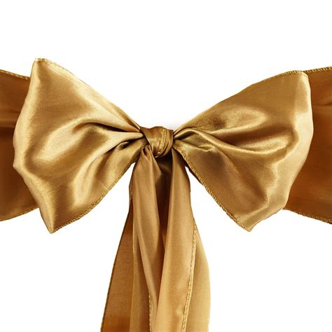 unique chair sash ties 10 antique gold satin chair sashes ties bows wedding